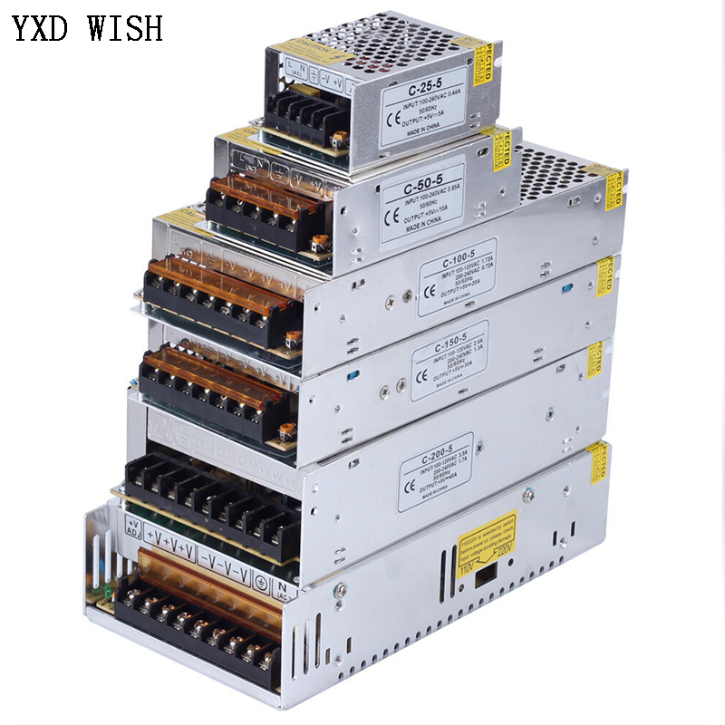 Switching Power Supply Light Transformer AC 110V 220V To DC 5V 12V 24V 36V Switch Power Supply Source Adapter For Led Strip CCTV