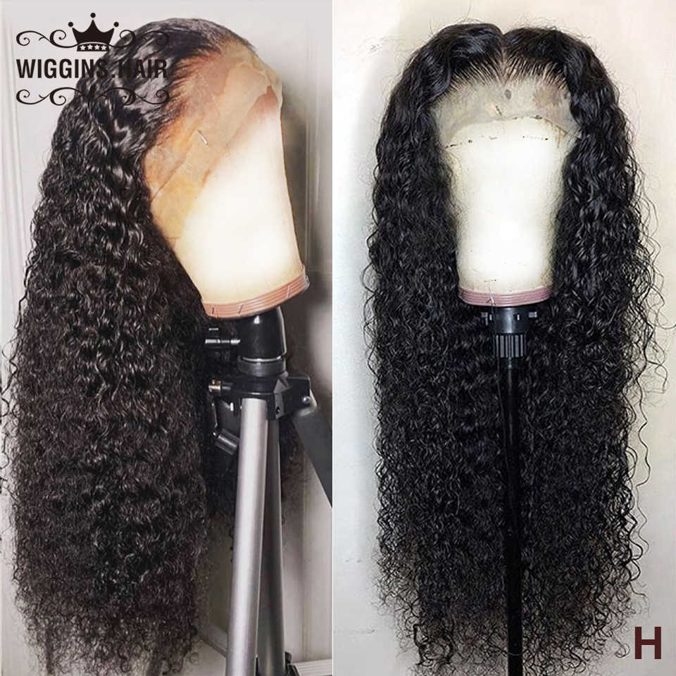 Kinky Curly Wig 5x5 Lace Closure Wig Human Hair Wigs For Black Women Wiggins 6x6 Lace Closure Pre Plucked With Baby Hair 180%