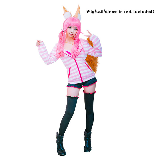Details about  /Fate Grand Order Tamamo no Mae Cosplay Costume Full Set Halloween Outfit /&