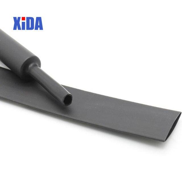 1 metr 2:1 czarny wyczyść 20mm 30mm 40mm rurka termokurczliwa termokurczliwa przewód rurowy owijka termokurczliwa zestawy sprzedam złącze DIY
