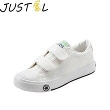JUSTSL весна осень детская парусиновая обувь детские Нескользящие модные кроссовки комфортный для мальчиков и девочек повседневная обувь Size25-37