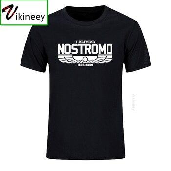Camiseta informal con estampado de Nostromo para hombre, Camiseta de algodón de...