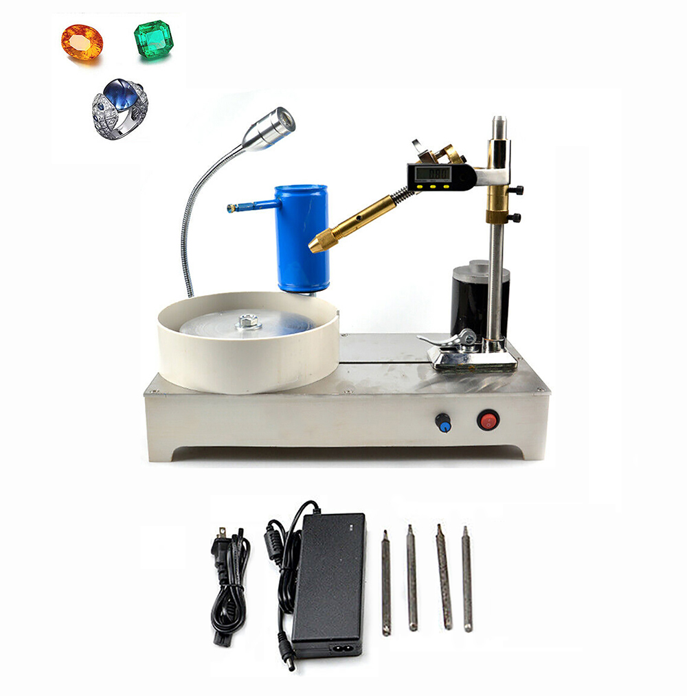 AC 100-240V Gemstone Grinding Faceting Machine Digital Display Gem Jade Angle Machine Jewelry Polisher Y
