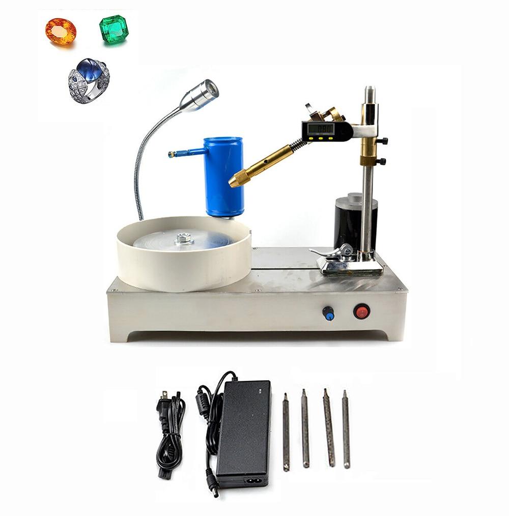AC 100-240V Gemstone Grinding Faceting Machine Digital Display Gem Jade Angle Machine Jewelry Polisher Y