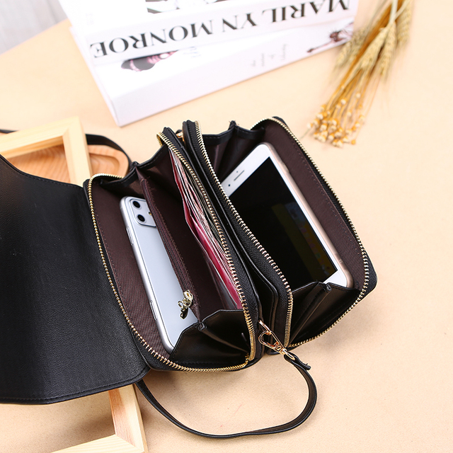 Trend Brand Female Wallet New Shoulder Bag Women Crossbady Bag Luxury Designer PU Leather Ladies Handbags Purse Mobile Phone Bag 6