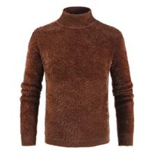 Męski sweter z golfem sweter z kaszmiru zimowy sweter męski 2019 pulower z golfem sweter męski Pull Col Roul Homme tanie tanio CN (pochodzenie) Stałe COTTON CASHMERE Z wełny Swetry NONE Na co dzień Pełna REGULAR Mieszkanie dzianiny STANDARD Brak