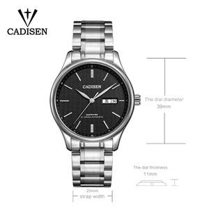 Image 2 - CADISEN 2019 męska mechaniczne zegarki luksusowe marki automatyczne mechaniczne zegarki wojskowy biznes wodoodporny kalendarz Manly