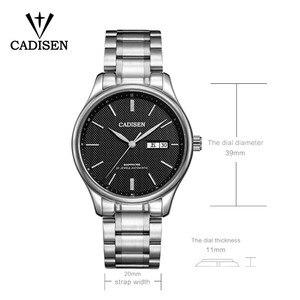 Image 2 - Мужские механические часы CADISEN 2019, роскошные брендовые автоматические механические часы, военные деловые водонепроницаемые мужские часы с календарем