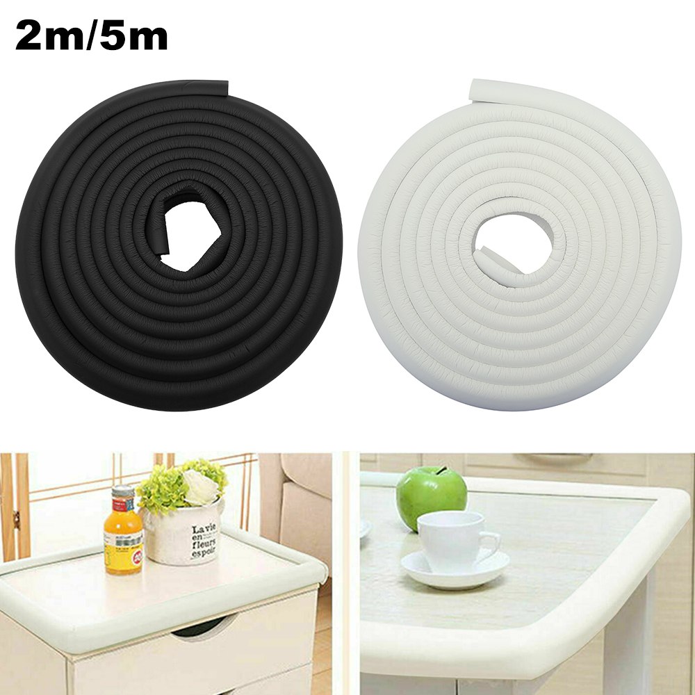 2/5M Table Guard Strip Edge Corner Child Protection Baby Safety Desk Soft Foam Sponge Edge Guards Angle Rubber Bumper