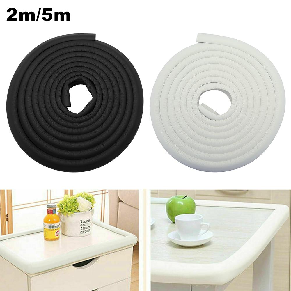 2/5M Table Guard Strip Edge Corner Child Protection Baby Safety Desk Soft Foam Sponge Edge Guards Angle Rubber Bumper