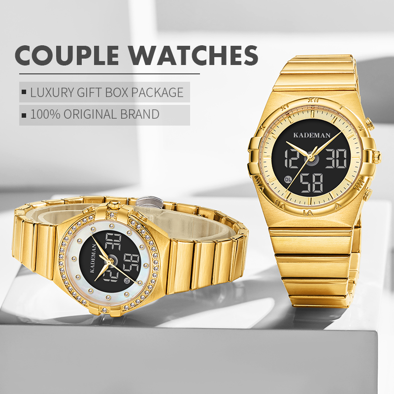 Famous Luxury Couple Watches Lovers Gifts 2020 New Arrival TOP Brand KADEMAN Men Women Wristwatch Fashion Business Casual Clocks