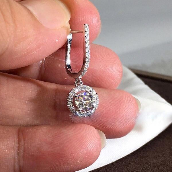 Fashion Round Silver Plated Dangle Earrings Wedding Jewelry Zircon Earrings For Women|Drop Earrings| - AliExpress