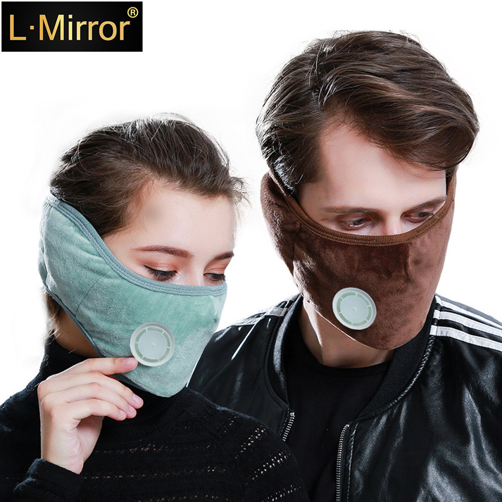 L.Mirror 1Pcs Mouth Warmer Cotton Fleece Anti Dust Face Muffle Mask For Men Women Boys Girls Full Ears Protection Ski Bicy