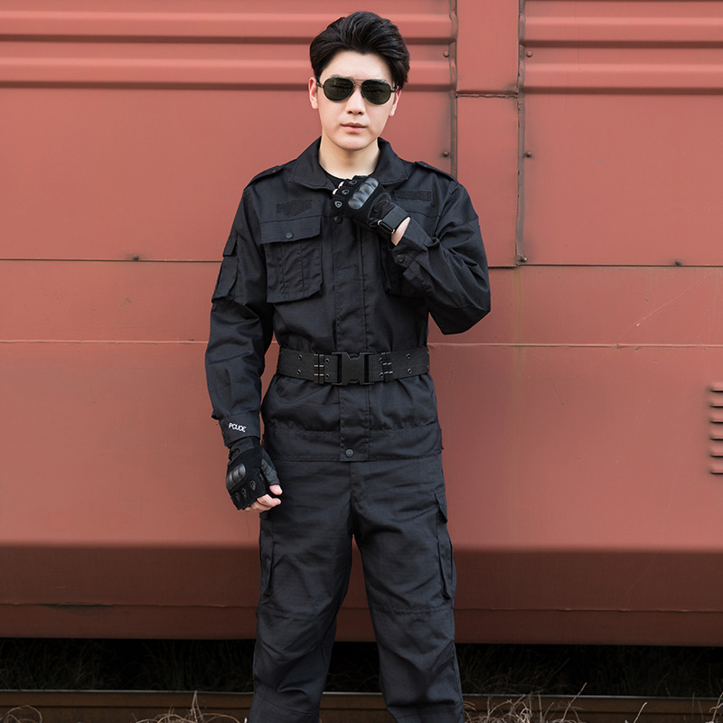 Security Staff Training Clothes Security Staff Work Suit Men's Long Sleeve Security Staff Uniform Spring And Autumn Winter Welde
