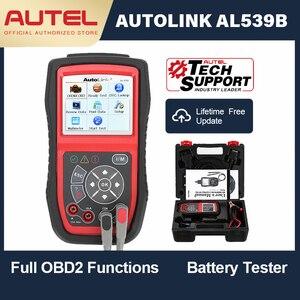 Image 1 - Autel AutoLink AL539B OBD OBD2 diagnostyka samochodowa 12 V czytnik kodów analizator baterii instalacja ładująca skaner Test obwodu narzędzie