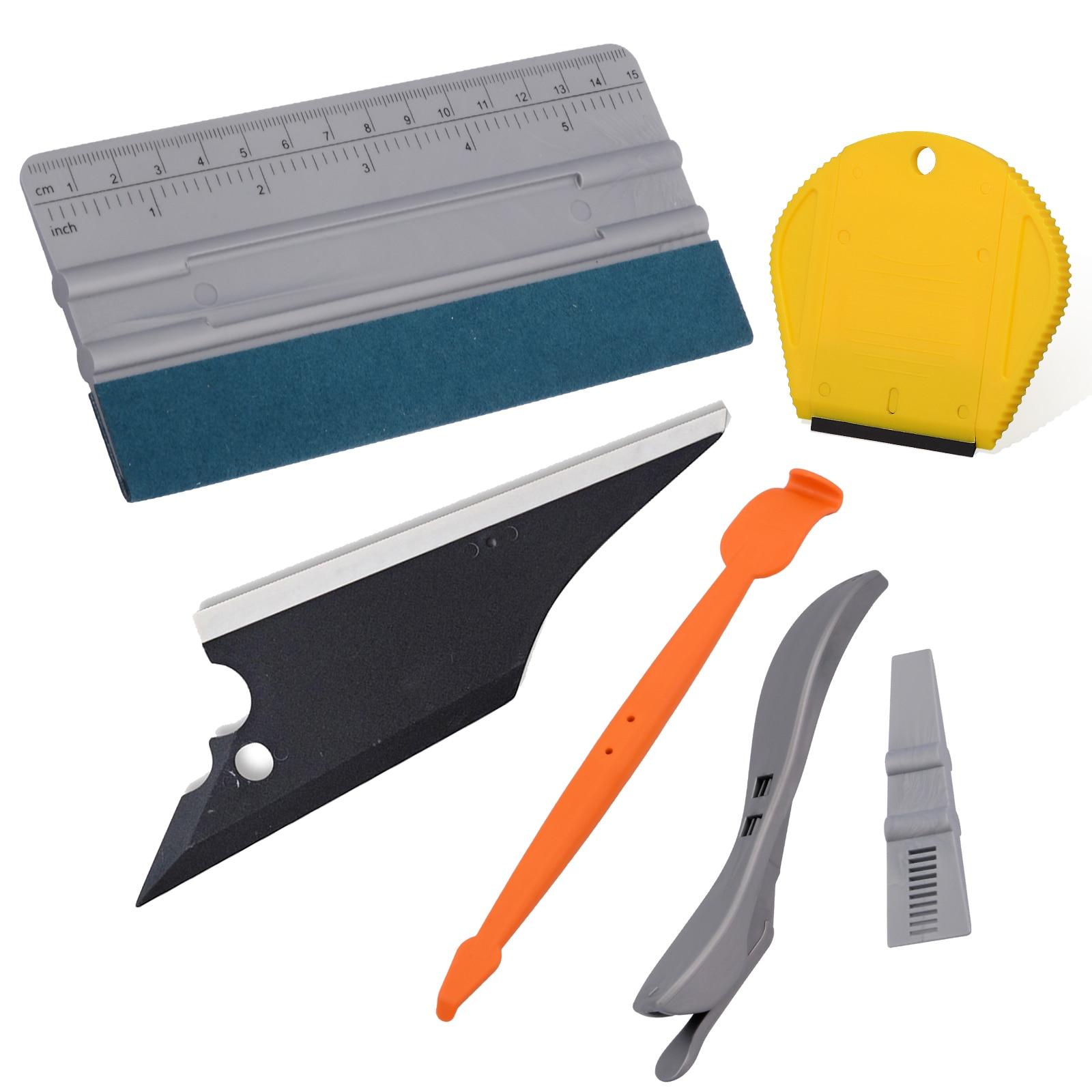 EHDIS Vinyl Wrap Tool Kit Auto Carbon Fiber Film Sticker Cutter Magnet Squeegee Window Tint Clean Scale Scraper Car Accessories