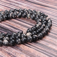 Natural Stone Emperor Black 15.5 PicBlue Peacockk Size 4/6/8/10/12mm fit Diy Charms Beads Jewelry Making Accessories