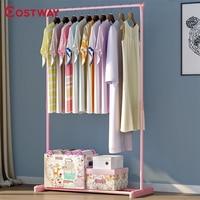 COSTWAY Clothes Hanger Coat Rack Floor Hanger Storage Wardrobe Clothing Drying Racks porte manteau kledingrek perchero de pie