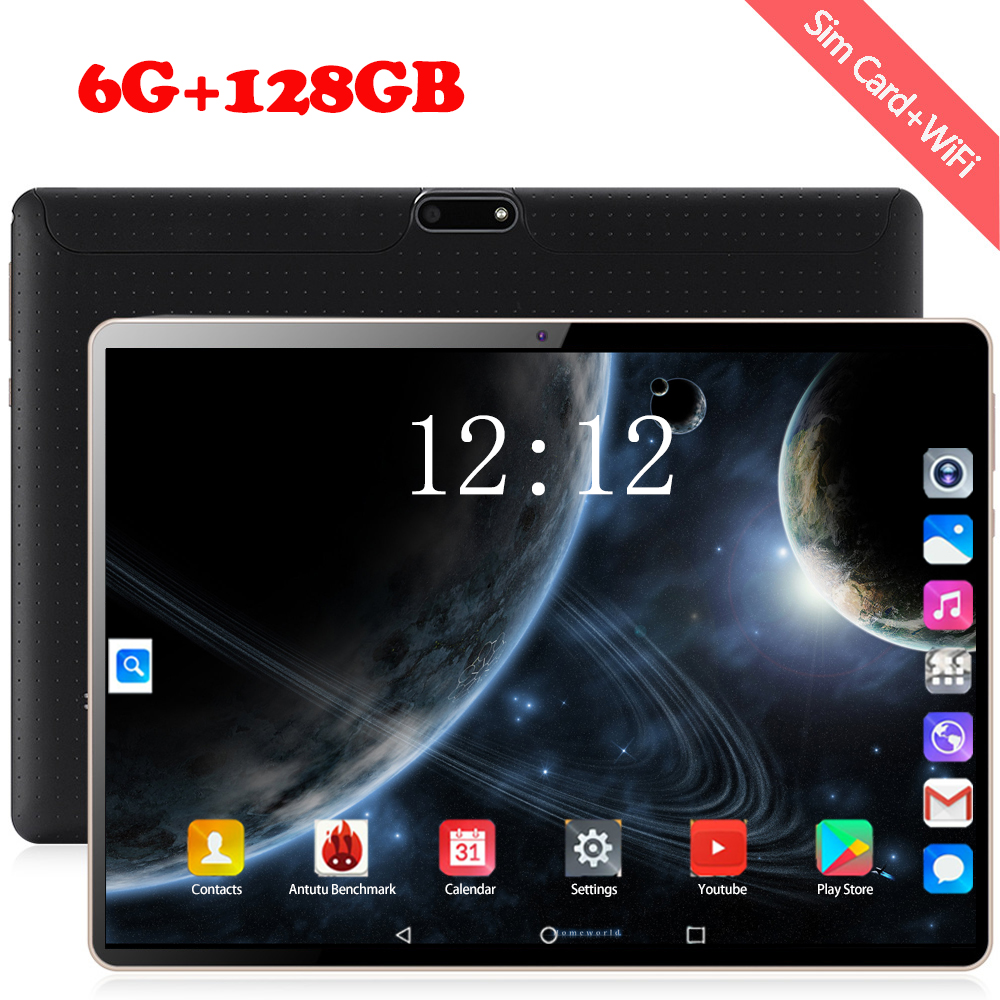 2020 Fast Shipping 10 Inch Tablet PC Octa Core 6GB RAM 128GB ROM Dual SIM 4G Lte Cell Phone Tablets Rugged 1280*800 FHD Screen