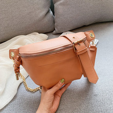 19 summer new explosions diagonal chest bag wholesale Korean fashion chain shoulder bag women pu leather solid color pockets