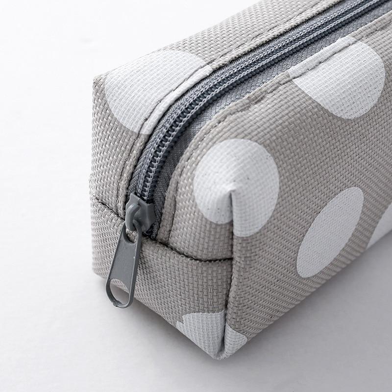 Cute Kawaii Canvas Pencil Case High Capacity Pen Bags Cute Letter Pencil Bags For Girls Gift School Supplies Korean Stationery