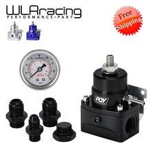 Ücretsiz kargo AN8 yüksek basınçlı yakıt regülatörü w/boost 8AN 8/8/6 EFI yakıt basınç regülatörü göstergesi ile WLR7855