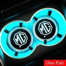 Light Coasters Auto-Cup-Holder Garages Atmosphere-Decor 2pcs for Morris MG 3/5/6/.. Ehs-Mat