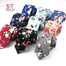 Flower-Ties Cravat Gift Skinny-Neck Adults Cotton Fashion Men for Rose 6CM Classic