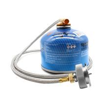 Zewnętrzna kuchenka gazowa adapter rura przedłużająca typ podziału złącze konwertera pieca aluminiowe adaptery automatycznego wyłączania tanie tanio CN (pochodzenie) Brak w zestawie Butan Nie wiatr tarcza Płynne przyprawy STAINLESS STEEL One-piece Przełącznik Narzędzie