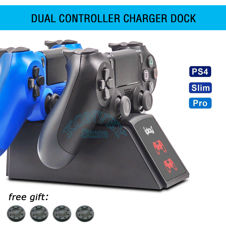 PS4&Slim&Pro Controller Charger Dock Station PS4 Joystick Charger Stand with LED Light Indicator for SONY Playstation4 Game