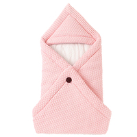 Winter Warm Baby Sleeping Bags Candy Color Knitted for Newborns Bebes Swaddle Wrapper Super Soft Infantil Bebes Envelopes Quilt