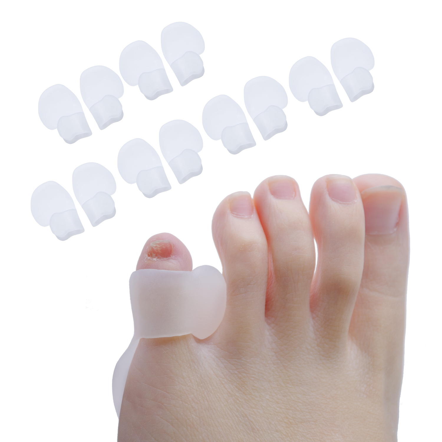 2Pcs=1Pair Gel Silicone Hallux Valgus Foot Care Tool Bunion Corrector Bone Toe Protector Straightener Toe Spreader Pedicure
