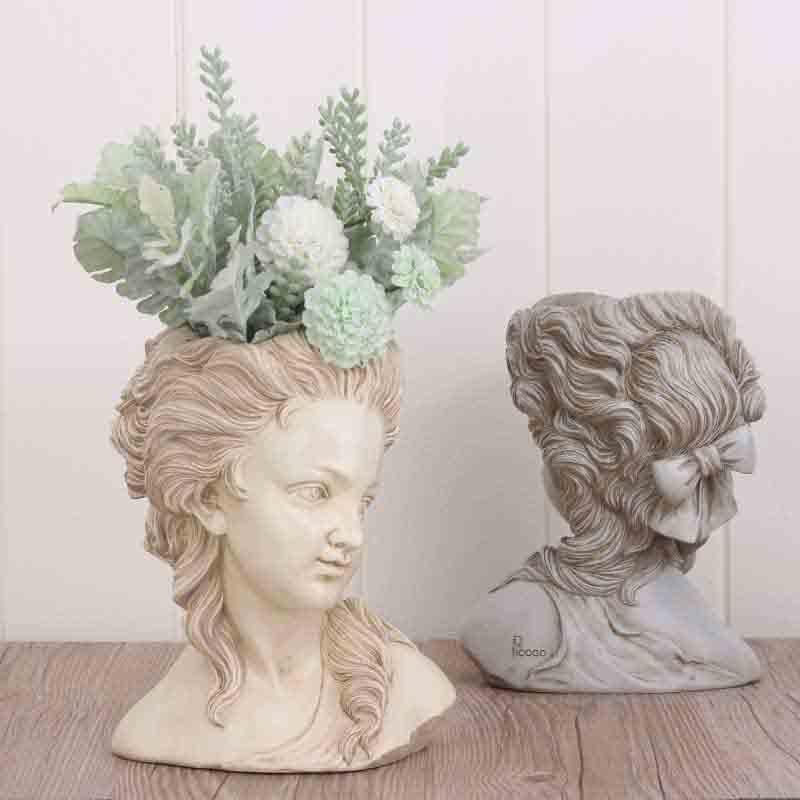 Купить цветочный горшок для суккулентов элегантная греческая богиня