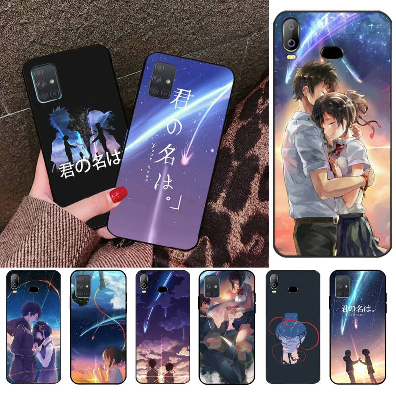 Japanese Anime Your Name Kimi Soft Phone Case Cover For Samsung Galaxy A01 A11 A31 A81 A10 A20 A30 A40 A50 A70 A80 A71 A91 A51 image