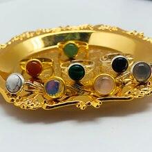 Momiji artesanal boêmio jóias presente anéis de cristal natural para as mulheres charme ctystal para a festa de aniversário anéis ajustável