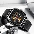 Reloj Mecánico MEGALITH a la moda, reloj deportivo con esqueleto impermeable automático para hombre, reloj de negocios automático, reloj Masculino 8202