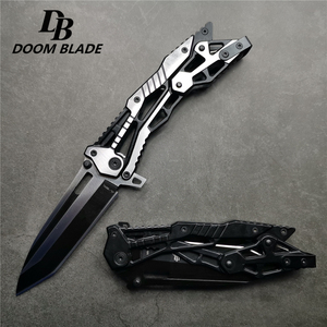 Image 2 - 213mm(8.4) 58HRC Cool Pocket Folding Knife Tactical Hunting Survival Combat Knives EDC Multi Tool Aluminum Handle Military