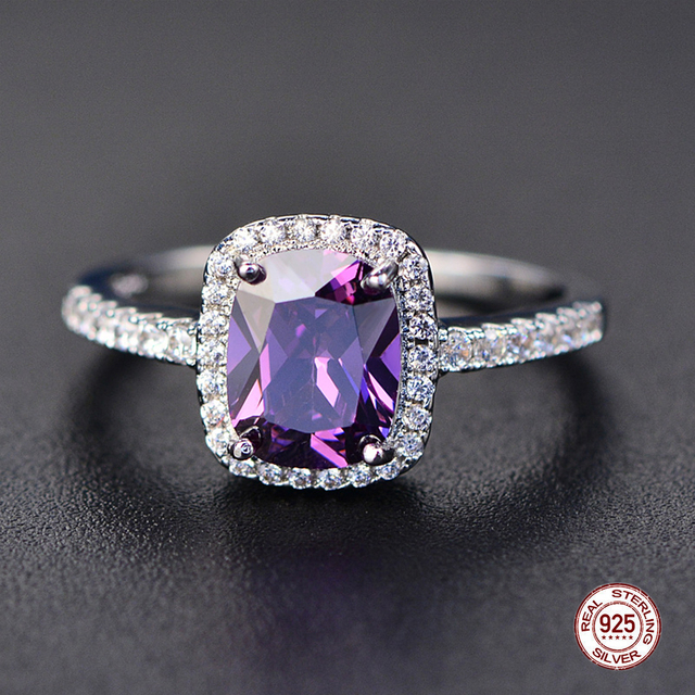Trendy Aquamarine Amethyst Ring 925 Sterling Silver Gemstone Ring Natural For Jewelry Blue Sapphire Silver Ring Party 3