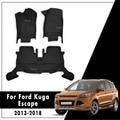 Auto Fußmatten Für Ford Escape 2013 2014 2015 2016 2017 Angepasst speziell Künstliche Leder auto zubehör auto styling-in Fußmatten aus Kraftfahrzeuge und Motorräder bei