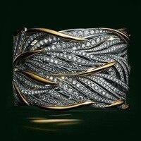 VAGZEB Zwei Ton Persönlichkeit Frauen Ring Aushöhlen Geometrische Form Dame Party Zubehör Weibliche Metallic Ringe Modeschmuck
