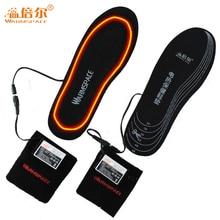 شتاء 2000mAh بطارية نعل كهربائي ساخنة قابلة للشحن الشتاء الحفاظ على دفئا منصات القدم الرجال النساء تسخين كهربائي إدراج الحذاء