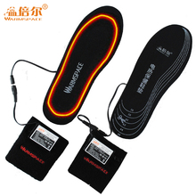 冬3.7vバッテリーelectriceインソール加熱された充電式冬ウォーマー足パッド男性女性電気温水靴挿入