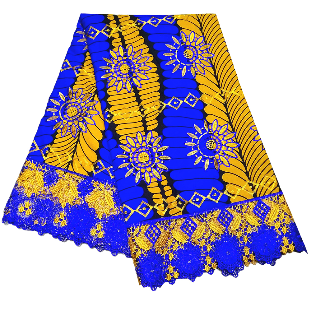 2019 New Gothic Style Wax African Lace Embroidery DIY Fabric 6Yards\lot