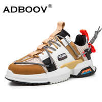 ADBOOV High Fashion Shoes Men Patchwork Chunky Snekers Men Tenis Masculino Casual Shoes Male Zapatos De Hombre