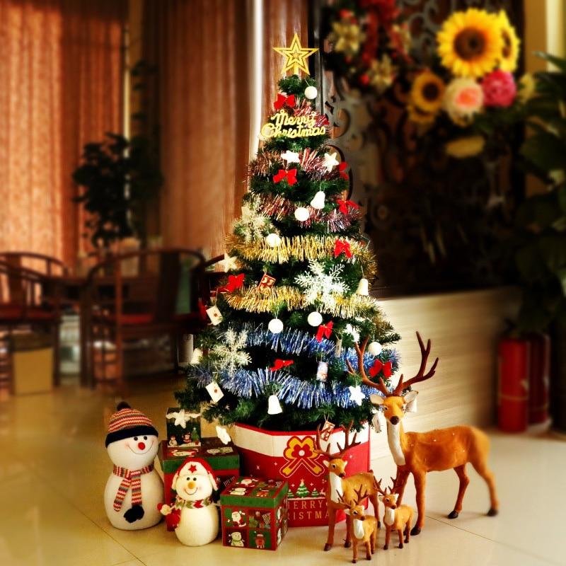 150cm arbre de noël ensembles décoration de la maison ruban coloré Festival décor accessoires avec Nigh lumière décoration Figurine artisanat - 3