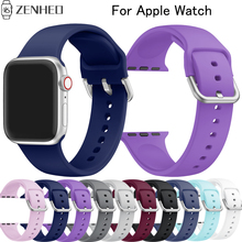 Silicone Strap For Apple Watch band 38mm 42mm iWatch 4 band 44mm 40mm smart watch Bracelet For Apple watch 4 3 2 1 Accessories silicone sport strap for apple watch 4 band 44mm 40mm iwatch band 42mm 38mm bracelet soft rubber apple watch 4 3 2 1 accessories