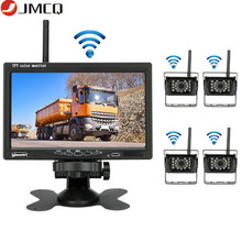 JMCQ 7 #8220 Wireless Rearview camera Car Monitor monitors Auto Night Vision Waterproof Rear camera For Truck excavator forklift cheap 174mm*114mm rear view camera In-Dash 800x480 300g