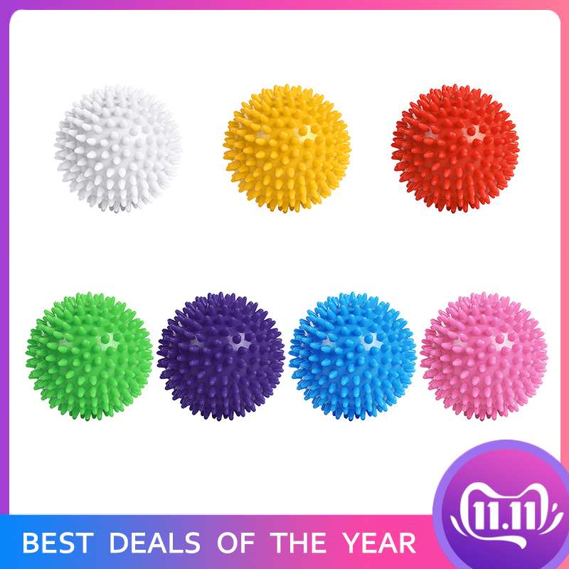 Spiky Fitness PVC Hand Massage Ball Trigger Point Sport Fitness Roller Portable Yoga Ball Hedgehog Sensory Training Grip Ball
