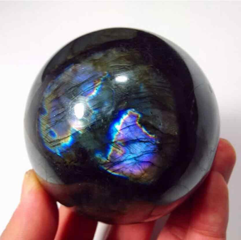 טבעי ברדוריט קוורץ קריסטל כדור כדור ריפוי