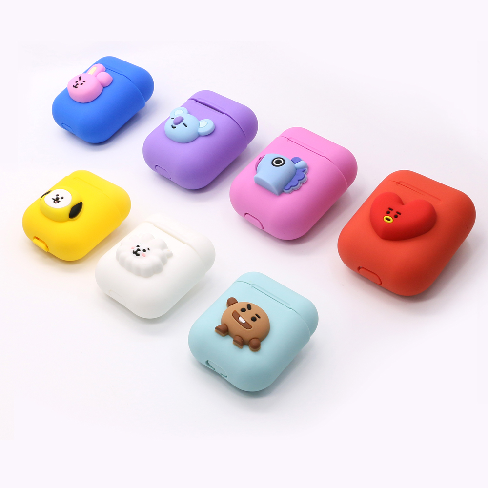 For Airpods 2 <font><b>1</b></font> Case <font><b>3D</b></font> Cute Cartoon Silicone Earphone Cases Luxury Cover with Box for Apple Airpod Air Pods Pod Earphone Fundas image